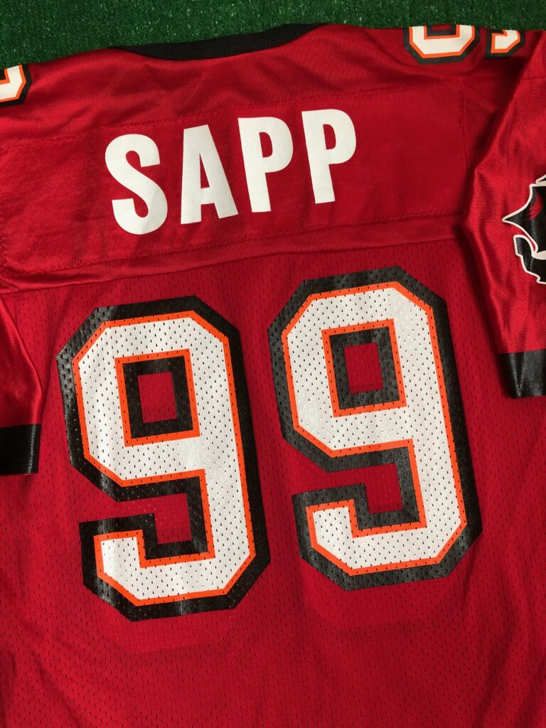 90's Warren Sapp Tampa Bay Buccaneers Champion NFL Jersey Size 44 ...